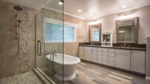 Freestanding Tub, Large Luxury Shower, Bathroom Vanity Storage