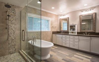 Freestanding Tub, Large Luxury Shower, Bathroom Vanity Storage