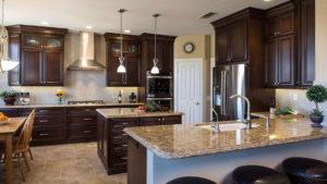 Double Islands in Kitchen, Prep Station in Kitchen, Dark Custom Kitchen Cabinets