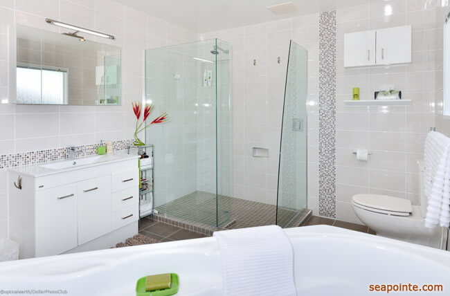 Four Updates That Will Make a Big Difference in Your Small Bathroom- Sea Pointe Construction width=