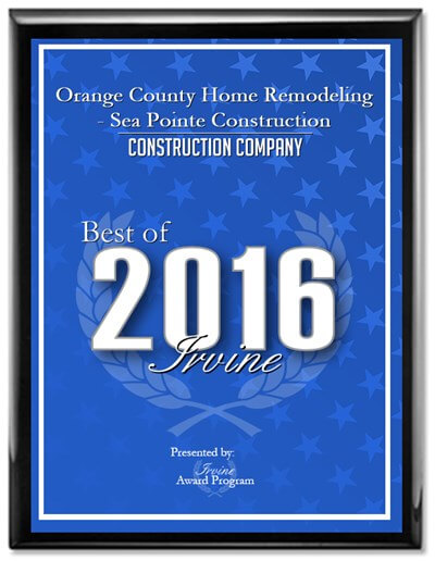 Best of Irvine, Sea Pointe Construction