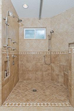 universal design bathroom curbless shower
