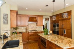 natural stone kitchen island