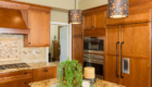 Granite Kitchen Island, Double Ovens, Custom OC Kitchen