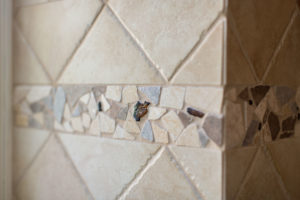 stone and Tile mosaic in kitchen remodel