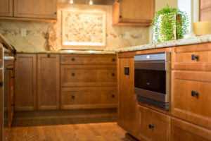 kitchen remodel featuring a microwave drawer