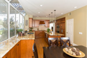 kitchen remodel with large window sea pointe construction