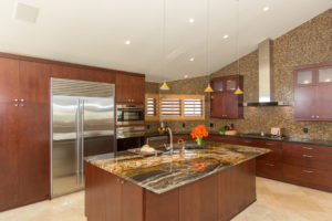 large and dark kitchen design