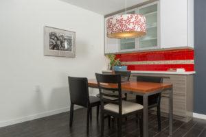Red Subway Tile as Backsplash