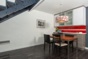 Modern Red Subway Tile as Backsplash