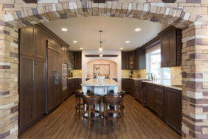 Stone Work Incorporated into California Kitchen Remodel