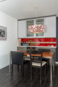 Red Subway Glass Tile Backspalsh