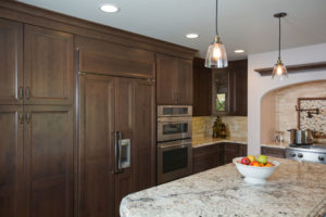 kitchen cabinet custom build out for traditional kitchen