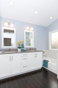 All White Vanity and Bathroom Storage