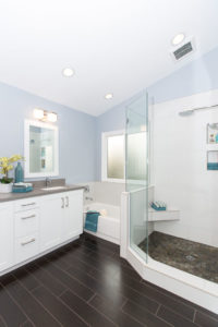 Large Bathroom Remodel in Laguna Niguel with all Custom Cabinetry
