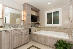 Custom Luxury Master Bathroom Cabinets and TV