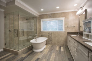 Master Bathroom Remodel with Freestanding Tub and Custom Storage Cabinets
