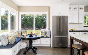 Kitchen Eating Area with build in Storage