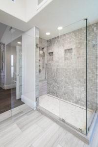 Large Luxury White Walk In Shower