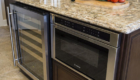Kitchen Island Wine Cooler, Kitchen Island Featuers, Irvine California Home Remodeling