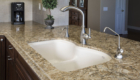 Large Kitchen Sink, Natural Stone Counter, Natural Stone in Kitchen