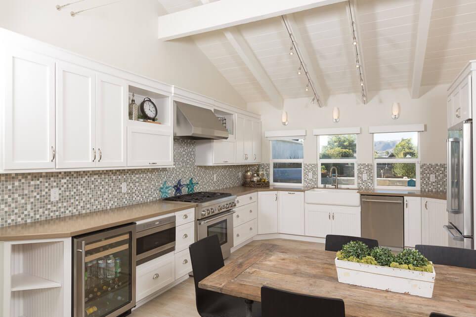 White Beach Kitchen Design, White California Kitchens, Kitchen Design