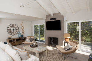 Family Room of Newly Renovated Beach House