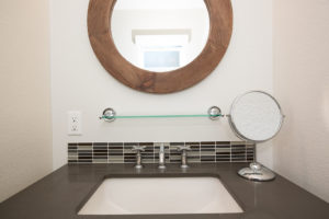 Master Bathroom Remodel with Custom Mirror California