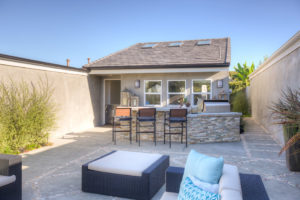 Custom Stone and Tile Work Completed This California Outdoor Living Space