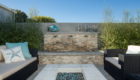 waterfall detail, outdoor living detail, Sea Pointe Construction