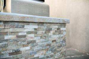 Outdoor Grill Custom Stone Work