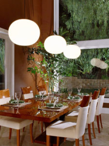 Dining Area with Wide Open Window