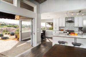 Indoor ourdoor kitchen design in Orange County Home