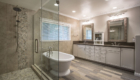 Modern Master Bathroom, Freestanding Bathtub, Bathtub