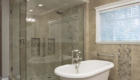 Large Luxury Shower, Freestanding Bathtub, Orange County Remodeling