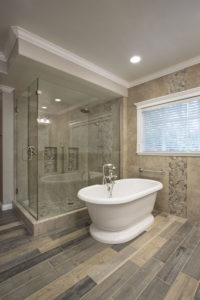 Luxury Bathroom with Large Frame-less Shower