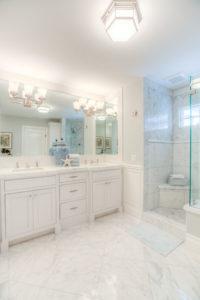 Open Master Bathroom Design in Renovated Newport Beach Home
