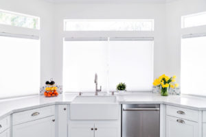 Sink and dish washing station in remodeled kitchen