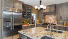 California Gray Kitchen, Gray Kitchen, Transitional Kitchen Design
