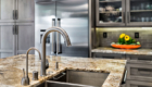 Kitchen Sink Fixtures, Kitchen Island Prep Area, Gray Kitchen