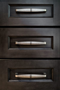 Black or Very dark kitchen Drawers