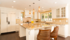 Glowing Kitchen Island, Bright Light Friendly Kitchen, Kitchen Remodel
