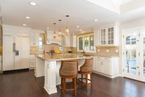Gold and White Kitchen Design Sea Pointe Construction