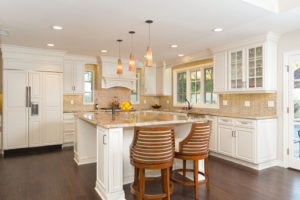 Glowing Gold and White Kitchen