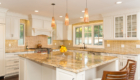 Large Kitchen Island, Gold Kitchen Counter, Open Kitchen Design