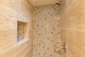 Luxury Walk in Shower With Natural Stone