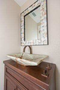 Interesting and Elegant Powder Bathroom Sink