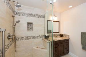 Large Luxury Shower with Frame-less Shower Doors