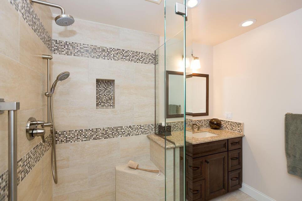 Irvine his her bathroom remodel sea pointe construction for Bathroom remodeling irvine ca