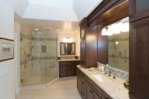 Very Large Master Bathroom His and Hers Vanity